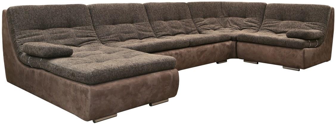 Угловой диван «Малибу» состав модулей 8m+30m+90+10+03+03: ткани_717+522_20 группа