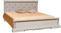 Кровать двойная Милана низкое изножье мягкая спинка