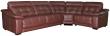 Угловой диван «Мирано» вар. 3mL.90.1R: натуральная кожа, 120 группа