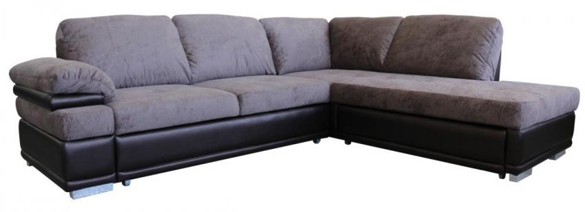 Угловой диван «Арена» вар. 3mL.5АR, ткани: 519+167_20 группа