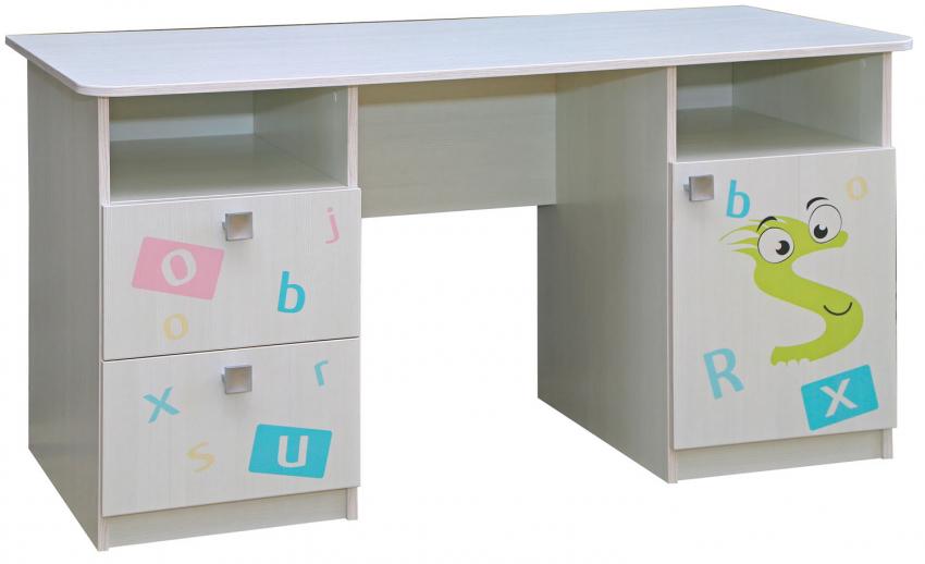 Стол письменный «Соната» П439.71Д15, Цвет: Принт «Буквы»