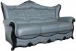 3-х местный диван «Патриция» (3м) натуральная кожа 120 группа