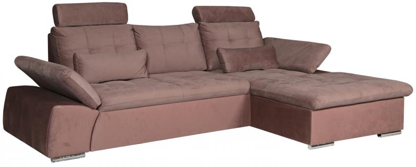Угловой диван «Джорджия» вар. 2mL.8mR:  ткани 31057+577_19 группа