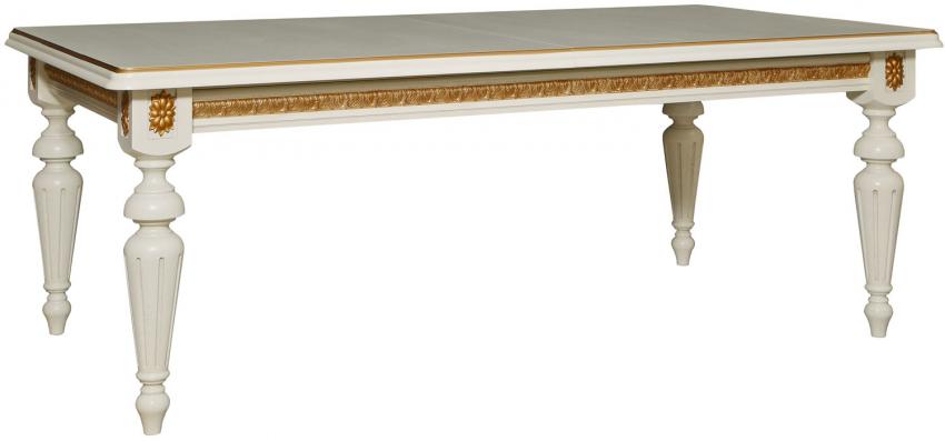 Стол «Милана 1РД» П390.01, Цвет: Слоновая кость с золочением