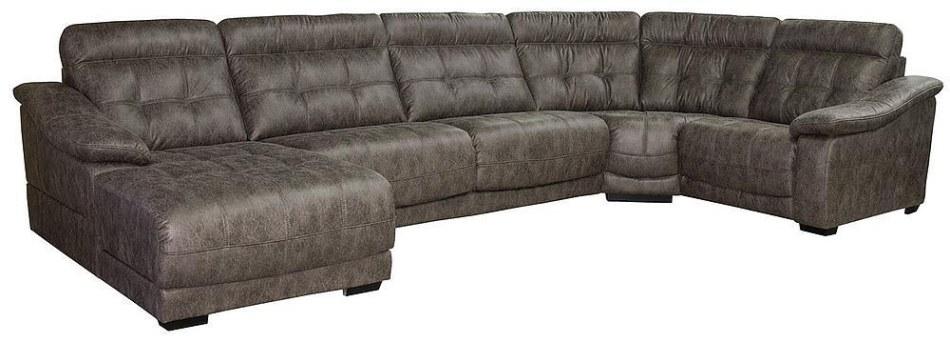 П-образный диван Мирано: вар. 8mL.30m.90.1R, ткань, 493 22 группа
