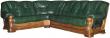 Угловой диван «Консул 23» вар. 3mR.90.2L:  кожа нат. + искуст_2001+4061(0)_115 группа