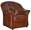 Кресло «Омега» (12), Материал: натуральная кожа, Группа ткани: 120 группа