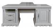 Стол «Милана 2П» П396.02, Цвет: Слоновая кость с серебром