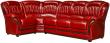 Угловой диван «Бакарди» вар. 3mR.90.1L: натуральная кожа, 150 группа