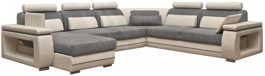 Угловой диван «Verso (Версо)» вар. 3R.90.20m.8mL: ткани 715+877_20 группа