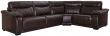 Угловой диван «Исландия»  вар 3mL.90.1Rнатуральная кожа 2324_ 140 группа