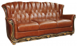 3-х местный диван «Европа» (3м) натуральная кожа 150 группа