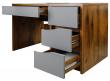 Стол письменный «Монако» П510.15-1, Цвет: Дуб Саттер+Серый Мокко