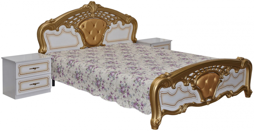 Кровать «Равенна 1» П423.09, Материал: ДСП ламинированная, Цвет: Белый глянец (krovat_ravenna_1_p423_09.jpg)