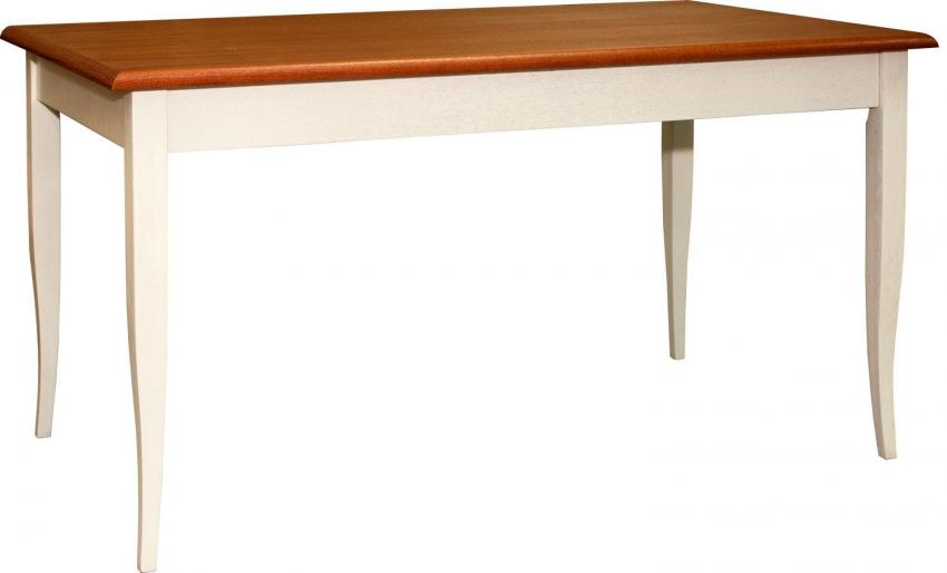Стол обеденный «Альт» П490.21, Цвет: Слоновая кость+рустикаль