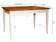 Стол обеденный «Альт» П490.23, Цвет: Слоновая кость+рустикаль (alt_