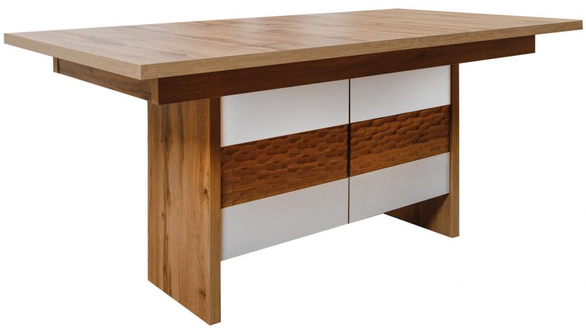 Стол обеденный «Рондо» П553.14, Цвет: Дуб Вотан + белый