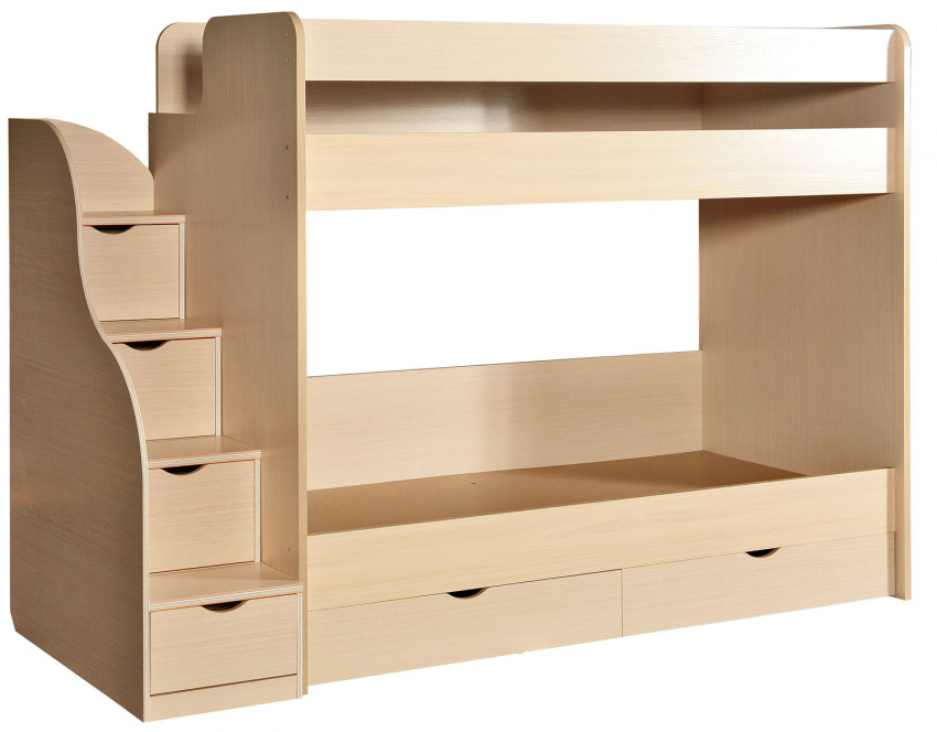 Кровать двухъярусная «Милый Беби» П223.01-1, Материал: ДСП ламинированная, Цвет: Дуб Белфорд (krovat_2-hyarusn_milyi_baby_p223_01-1.jpg)