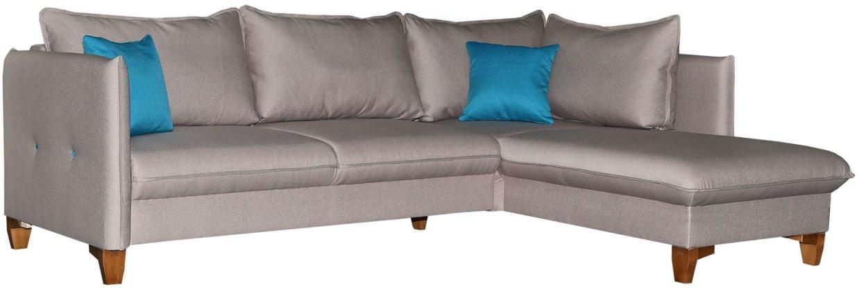 Угловой диван «Осирис» вар.2mL.6R,  ткани: 19 группа