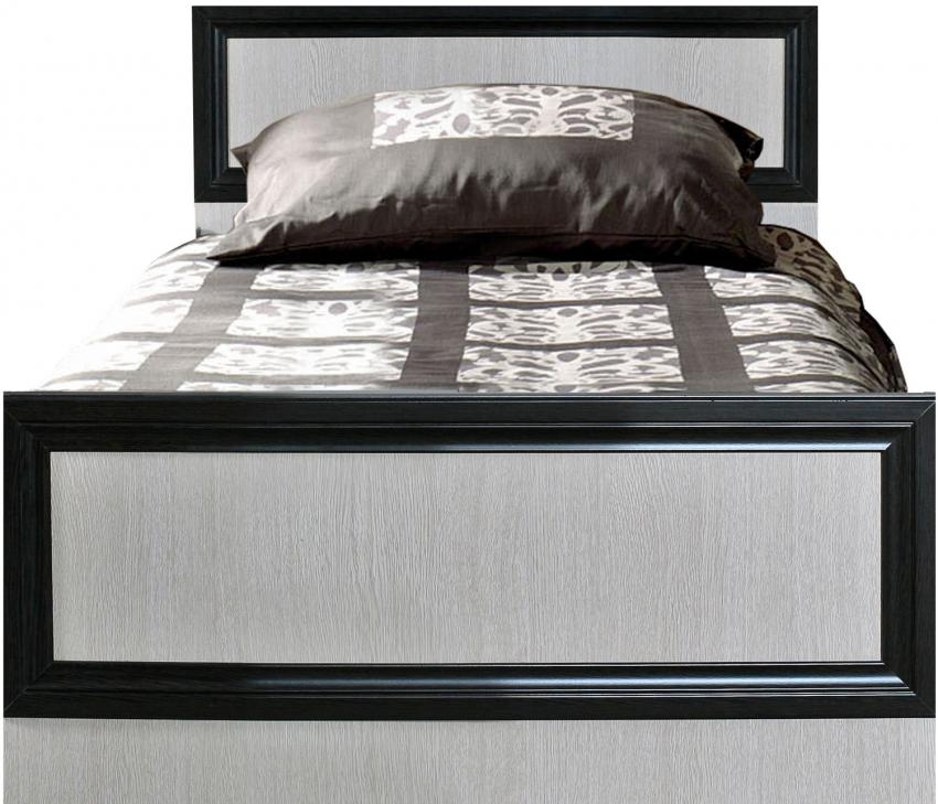 Кровать одинарная «Ника» П024.07, Материал: основание кровати: каркас из ДСП, Цвет: Венге+дуб Беловежский (krovat_nika_p024_07.jpg)