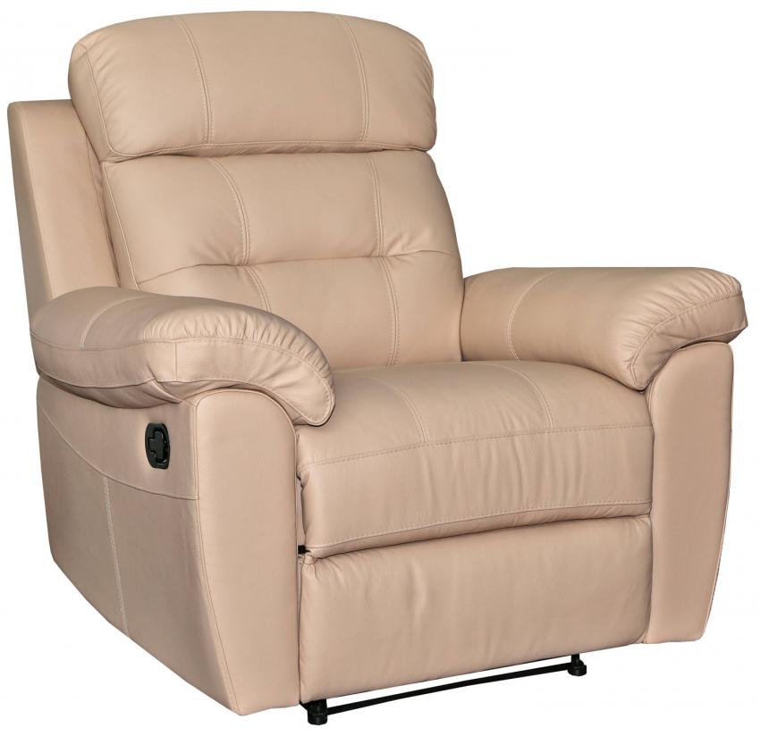 Кресло-реклайнер «Родео» (1Р), Материал: натуральная кожа, Группа ткани: 120 группа