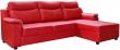 Угловой диван «Люксор»  вар. 3мL.8мR:  кожа нат 10163+kant895_120 группа.