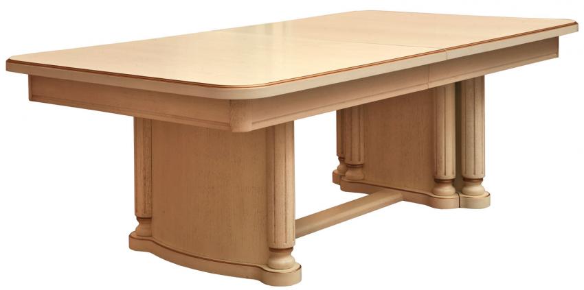 Стол «Гранд 1» П332.01, Цвет: Слоновая кость с золочением