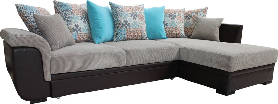 Угловой диван «Мальта 1» вар. 3mL.6mR:  ткани: 20 группа