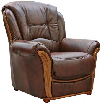 Кресло «Леонардо 2» (12), Материал: натуральная кожа, Группа ткани: 120 группа