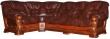 Угловой диван «Консул 23» вар. 3mR.90.1L:  кожа нат. 1068 120 группа