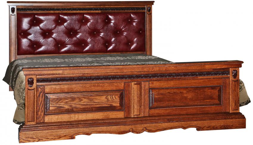 Кровать двойная «Милана» высокое изножье мягкая спинка, Цвет: Черешня, Спальное место: 2000x1600 мм, Размер: 2187x1772x1035 мм (krovat_dvoinaya_milana_16p_p294_05_chereshnya.jpg)