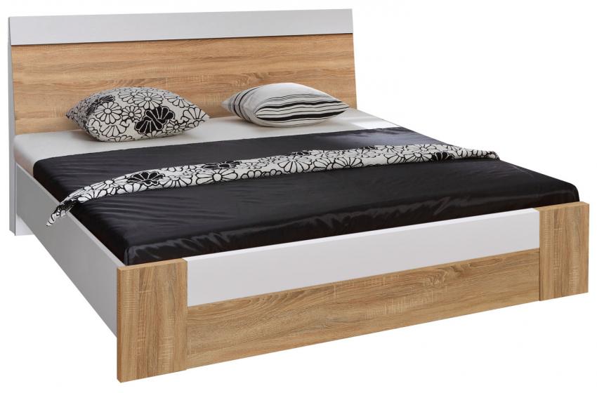Кровать «Комфорт» П400.02-4, Материал: ДСП ламинированная, Цвет: Дуб Сонома+серый (krovat_komfort_p400_02-4_3.jpg)