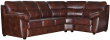 Угловой диван «Плаза» вар. 3ml.90.1R:  кожа натур+искуств,1068-4069_115 группа