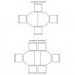 Стол «Верди 2РД» П106.06-01, Цвет: Дуб рустикаль с патинированием