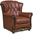 Кресло «Европа» (12), Материал: натуральная кожа, Группа ткани: 120 группа