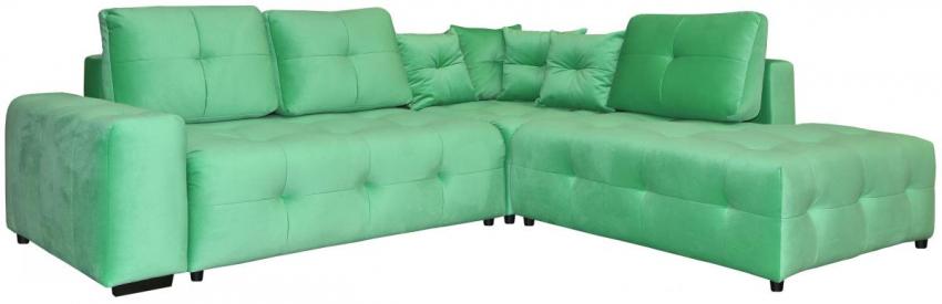 Угловой диван «Кубус» вар. 2mL.90.4aR,  ткани_30115_19 группа