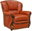 Кресло «Изабель 2» (12), Материал: натуральная кожа, Группа ткани: 140 группа