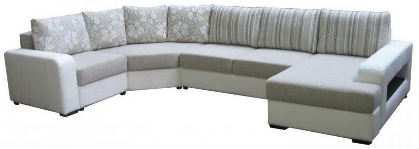 П-образный диван «Сальвадор» вар.  1L.90.20m.8mR: ткани 764(0)+877+756+764_20 группа