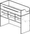 Кровать-чердак «Балу» П039.122, Материал: ДСП ламинированная (krovat-cherdak_balu_p039_122_shema5acda70669ddc.jpg)