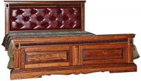 Кровать двойная Милана высокое изножье мягкая спинка