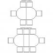 Стол «Милана 18» П394.02, Цвет: Слоновая кость с золочением
