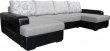 Угловой диван «Сальвадор» вар. 8mL.20m.8mR: ткани 707+162+962+962(0)_21 группа