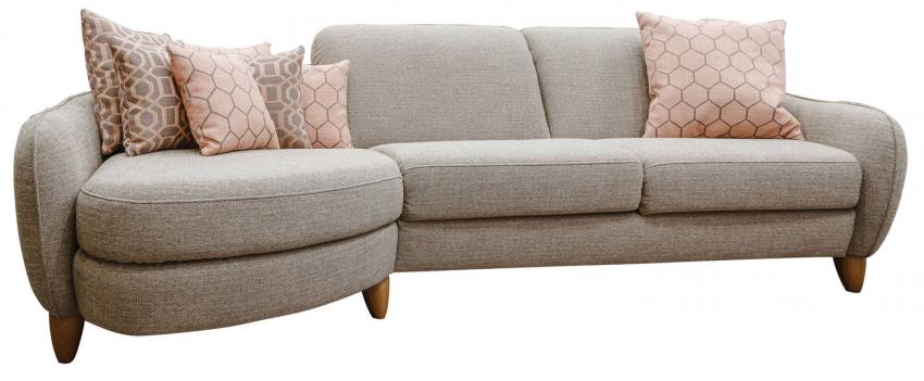 Угловой диван «Бали» вар. 3mL.4R: ткани 30194+30186+30191_24 группа