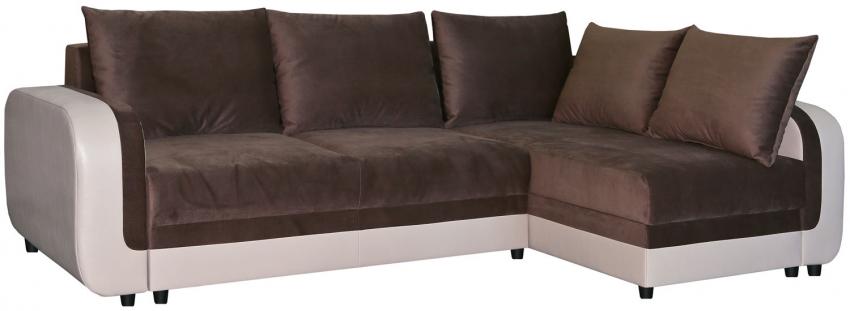 Угловой диван «Чарли 1» вар.2mL.6R: ткани 31137+133 18 группа