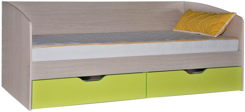 Кровать одинарная «Бонни» П027.02, Материал: ДСП ламинированная, Цвет: Лайм (krovat_bonny_p027_02_laim.jpg)