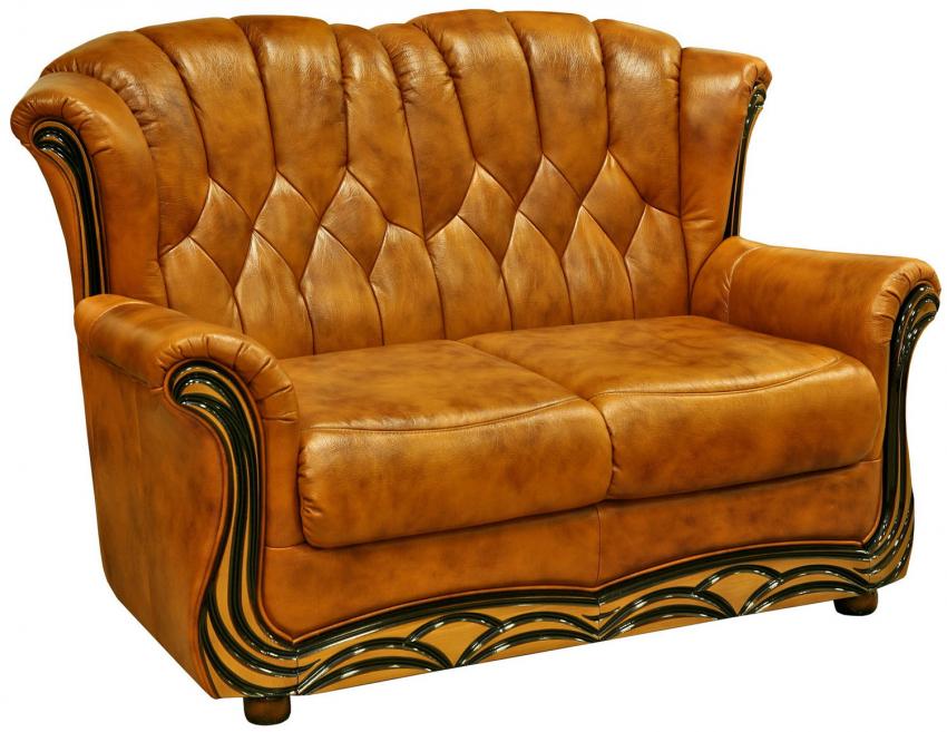 2-х местный диван «Европа» (2м), Материал: натуральная кожа, Группа ткани: 120 группа