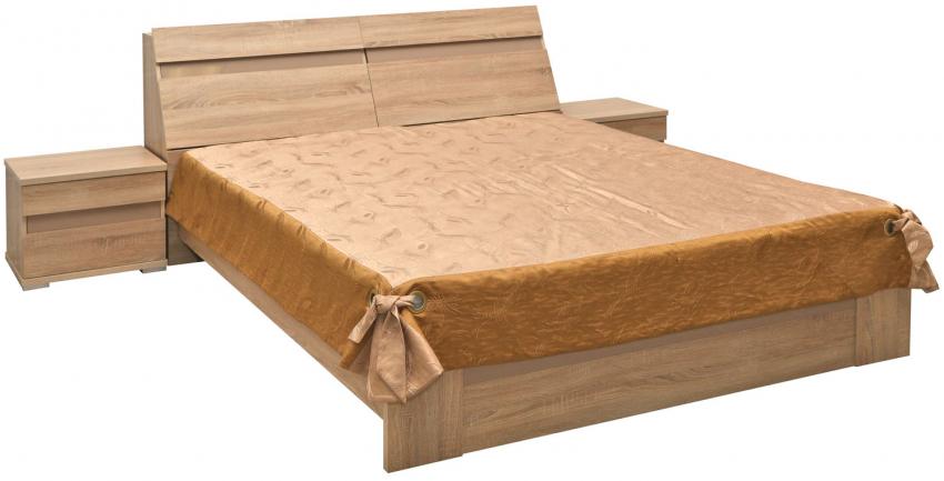 Кровать двойная «Софи» П419.51м, Материал: ДСП ламинированная, Цвет: Дуб Сонома (krovat_dvoinaya_sofi_p419_51m.jpg)